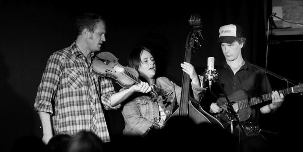 Sammy, Nadine and Caleb Klauder. Photo by Ian Hutchison